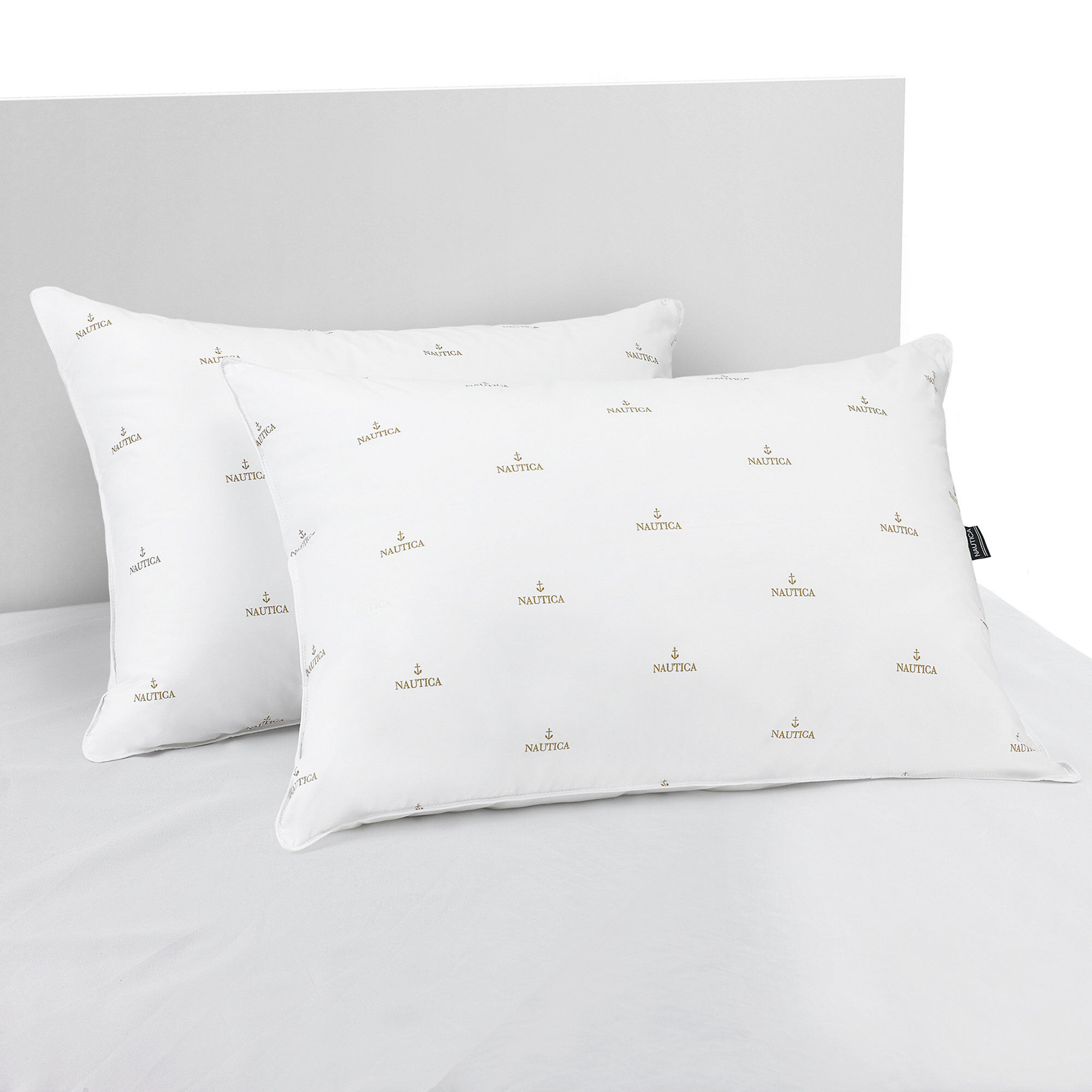 Standard Bed Pillows Nautica Anchor Print Standard Queen Firm Pillows