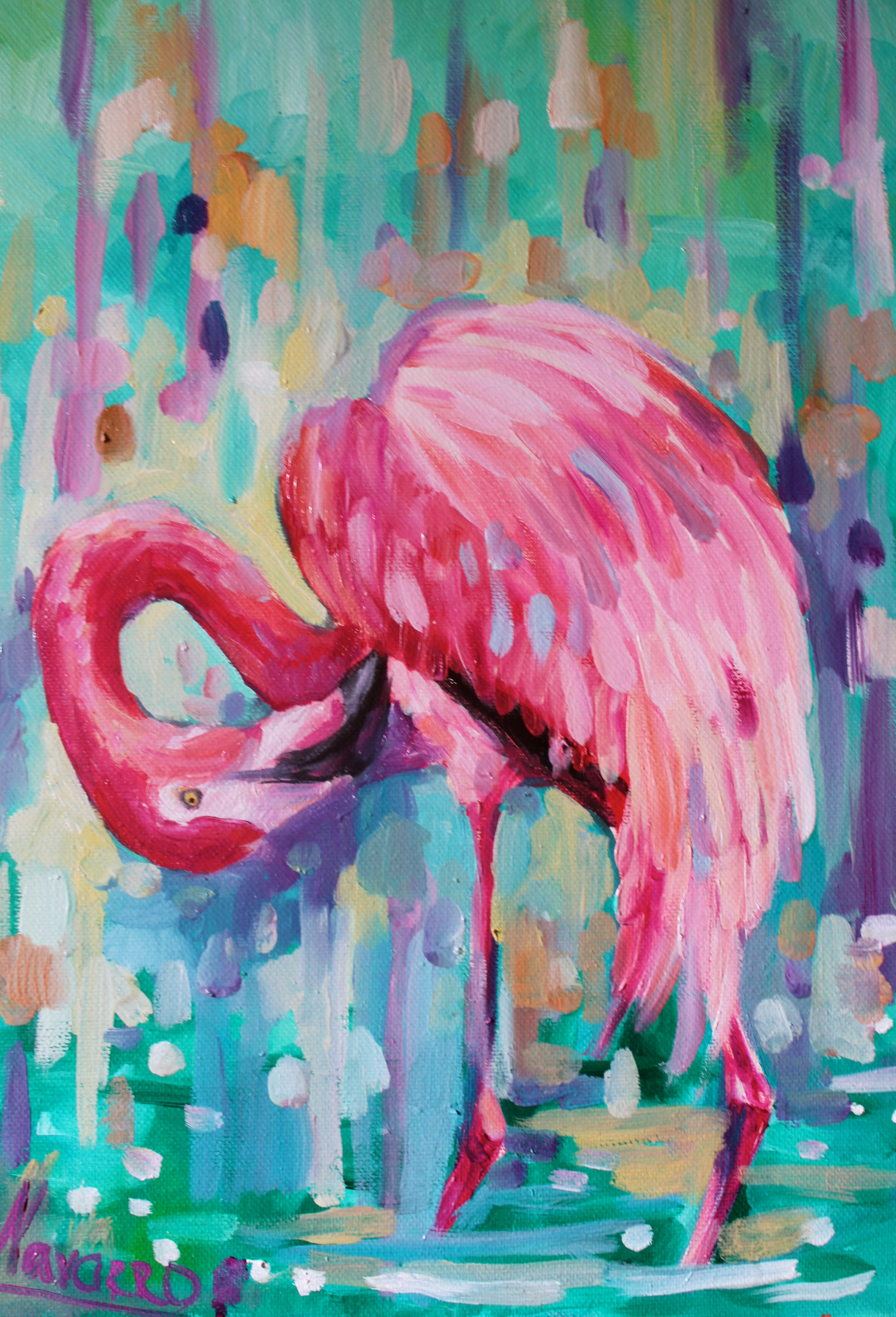 Tropical Artwork Quotpink Summer Quot Flamingo Art Art Studio