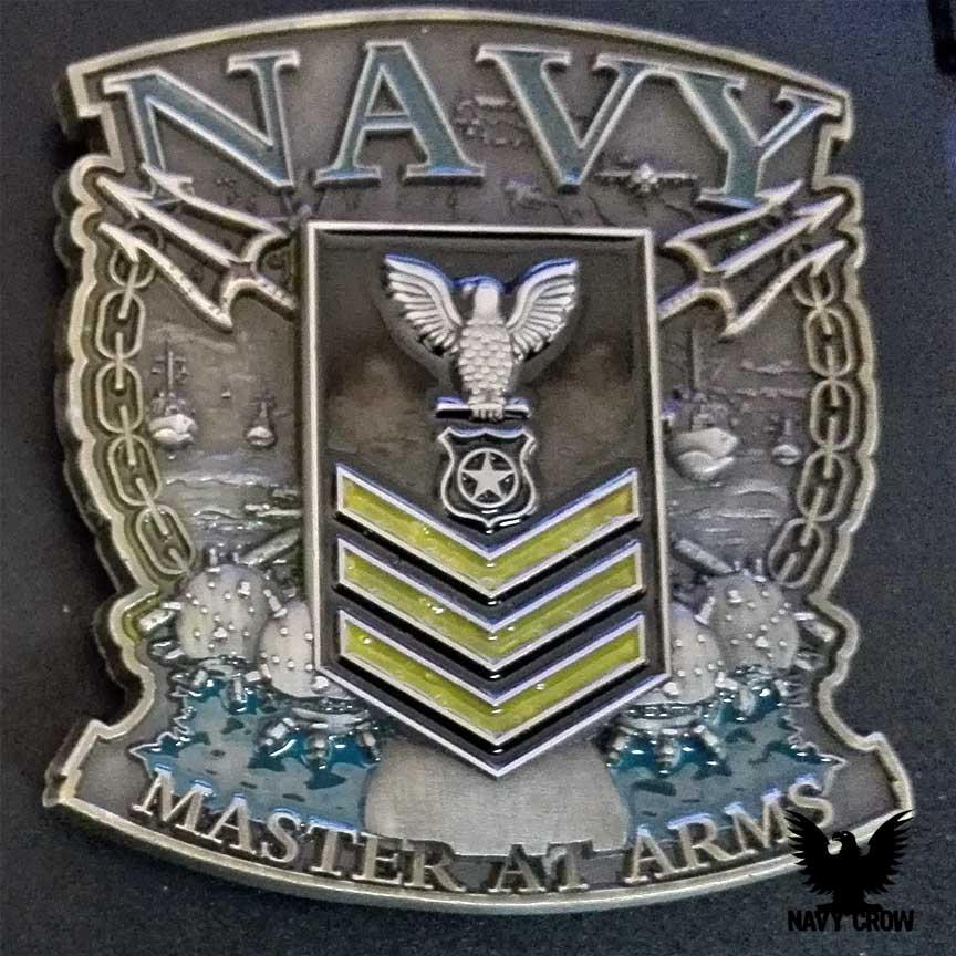 US Navy Master-At-Arms 1st Class Gold Chevrons Coin USN Coins - us navy master at arms