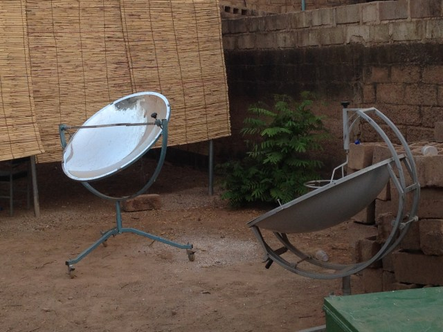 The solar ovens at Ouagalab.