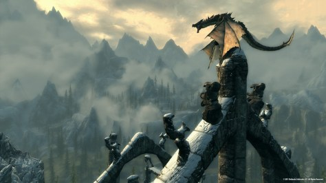 Dragon in Skyrim