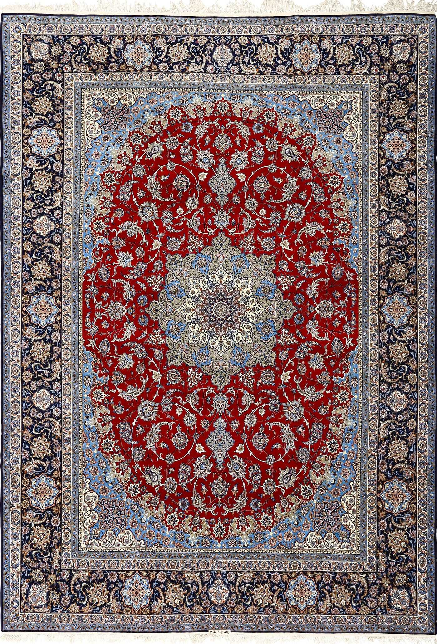 Red Oriental Rug Beautiful Vintage Isfahan Persian Rug 51090 By Nazmiyal