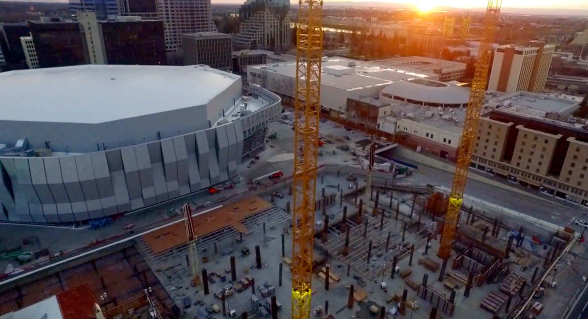 Garage Innovations Oklahoma City Drone Program Utilized On Golden 1 Center Construction Wins