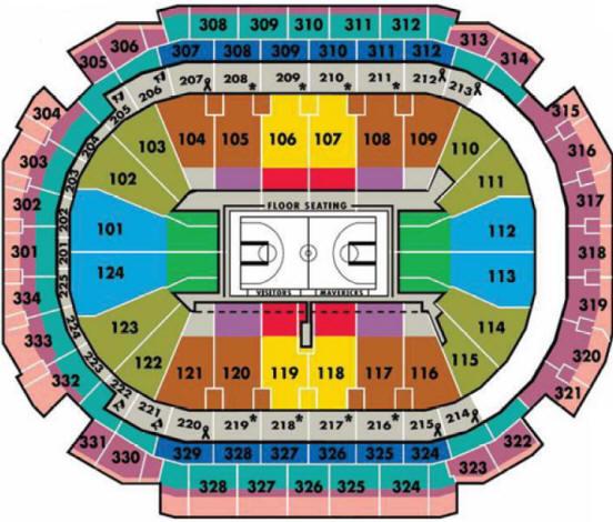 Similiar AA Arena Dallas Seating Chart Keywords