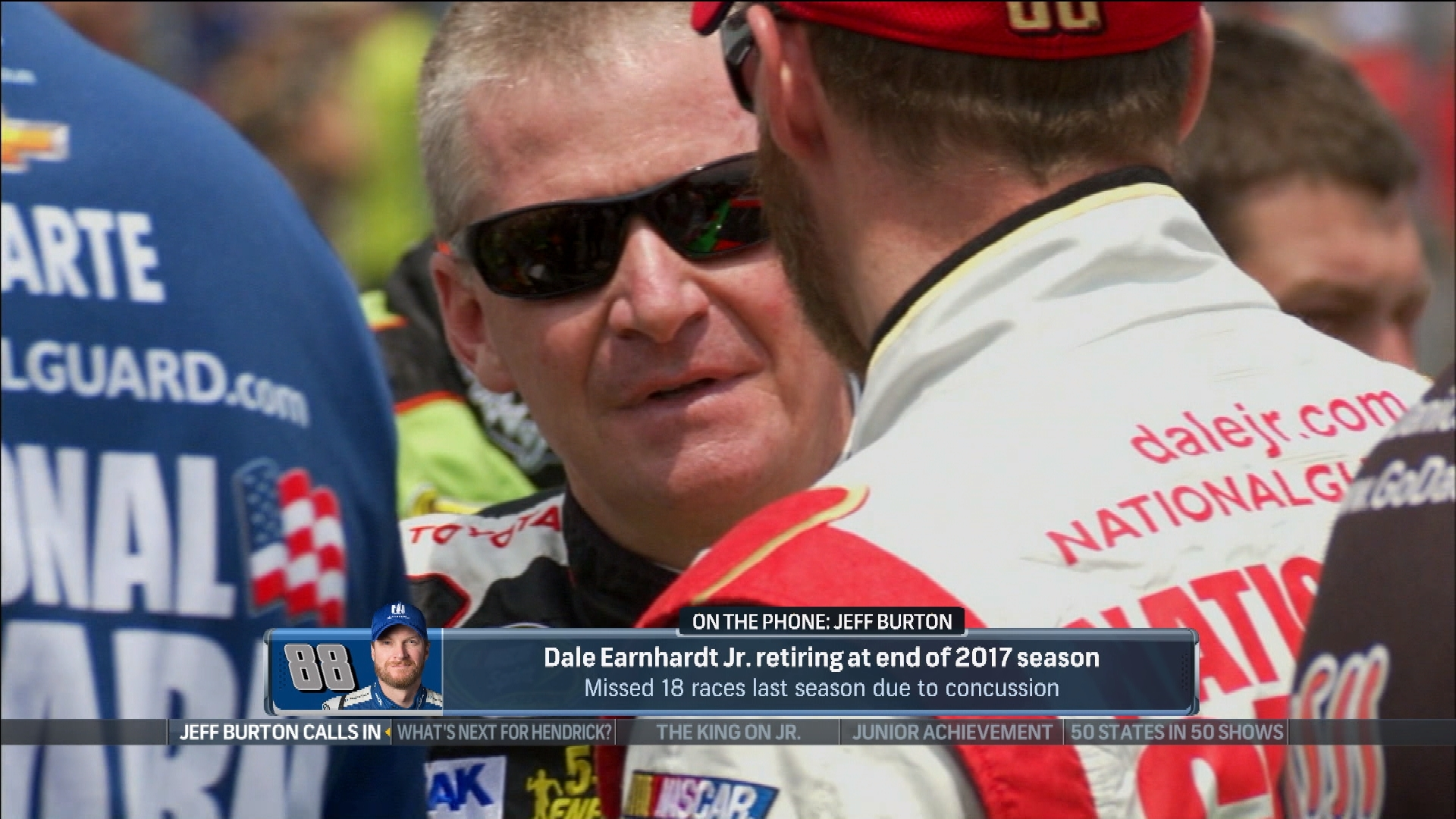Arte Junior Replay Dale Jr Retires Earnhardt Will Have Impact On Nascar Says Jeff