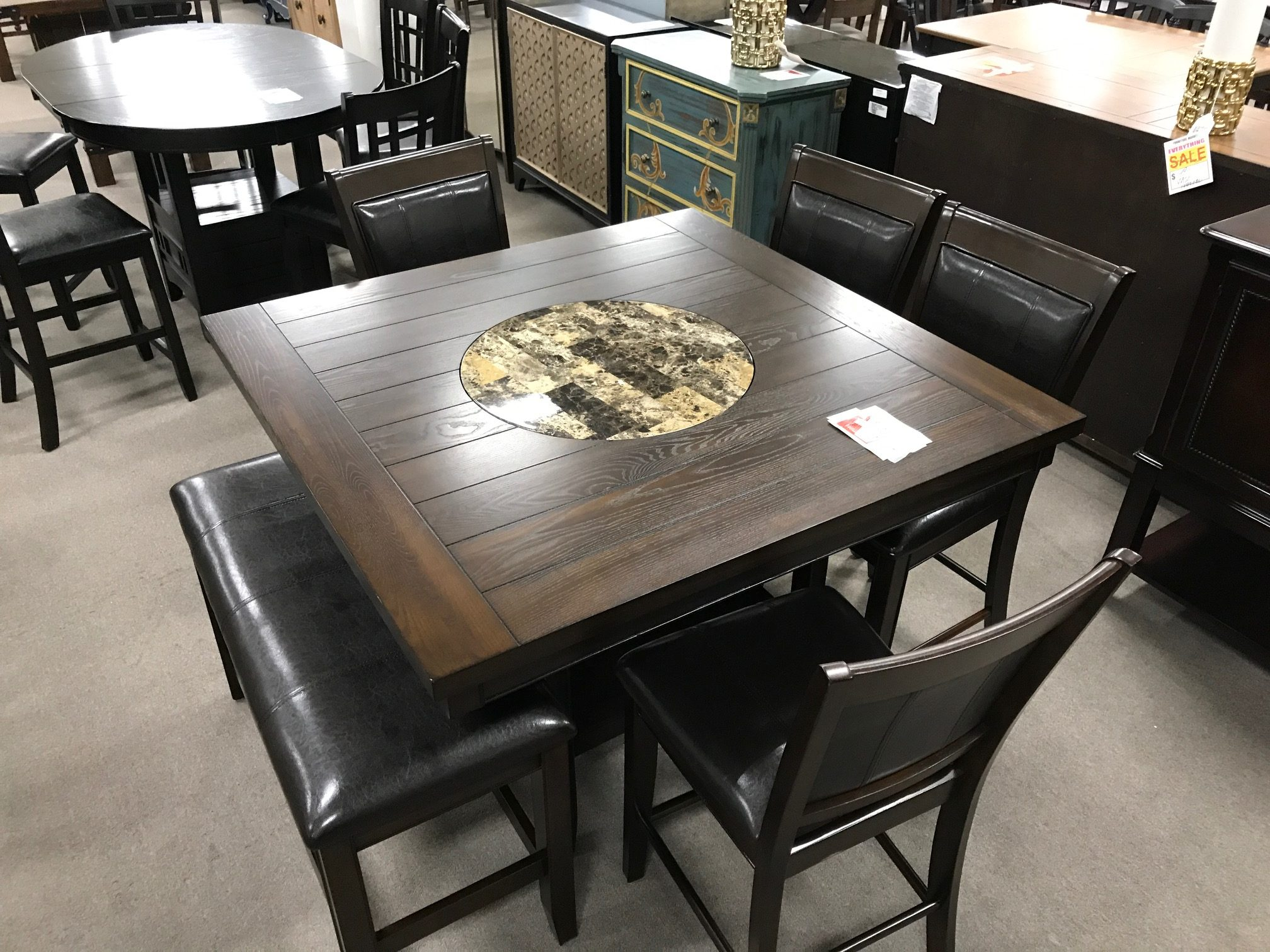 Furniture Market Dining Table With Stools And Bench Heavner Furniture Market