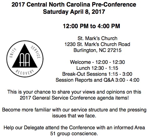2017 Central Pre-Conference An Event for ALL AA Members - conference agenda