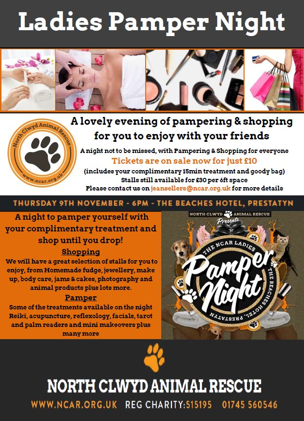 pamper night poster