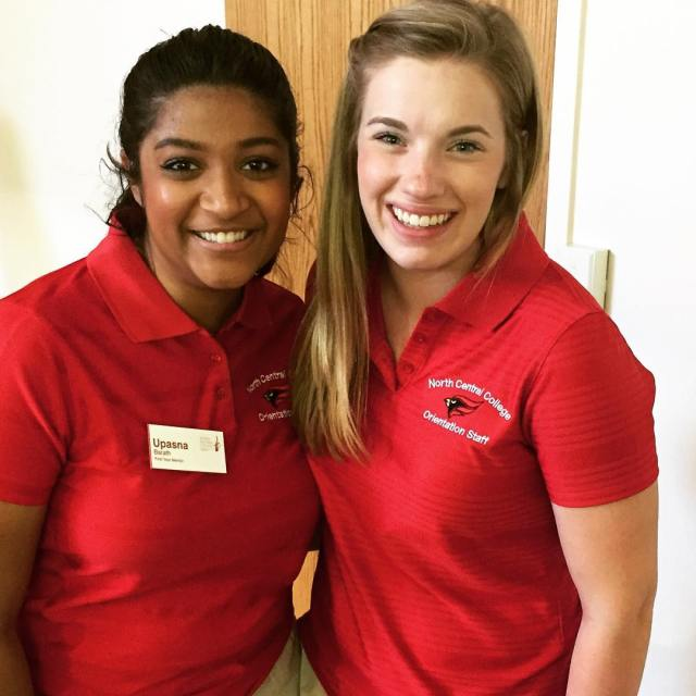 First Year Mentors Upasna Barath left and Ashley Clayton helphellip