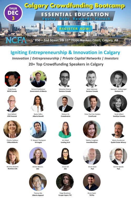 NCFA Calgary Crowdfunding Bootcamp Speakers2