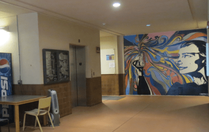 Art, science, interdisciplinary: Beautiful student-created murals cover white construction walls in Heiser