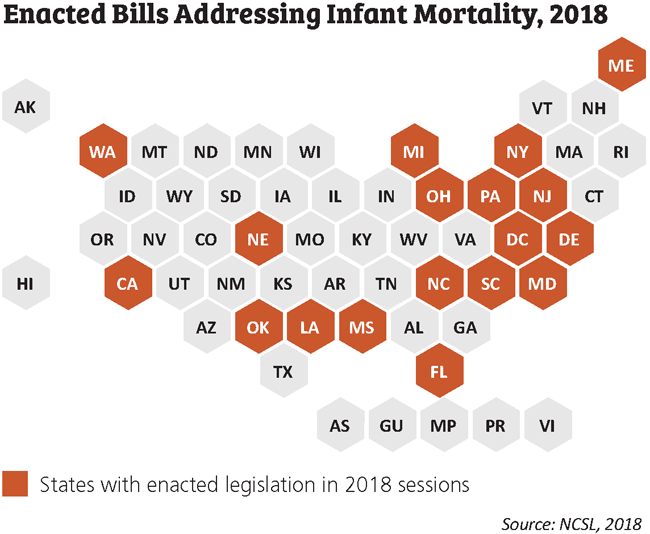 Newborn Infant Legislation Preventing Infant And Maternal Mortality State Policy Options