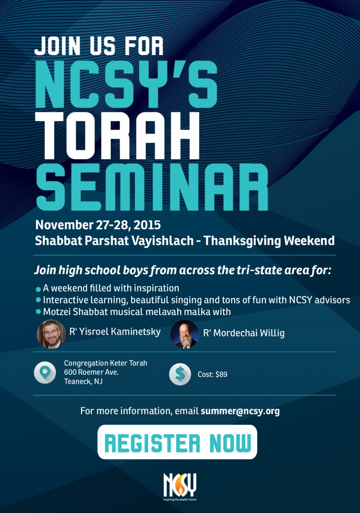 NCSY\u0027s Torah Seminar Flyer - NCSY - seminar flyer