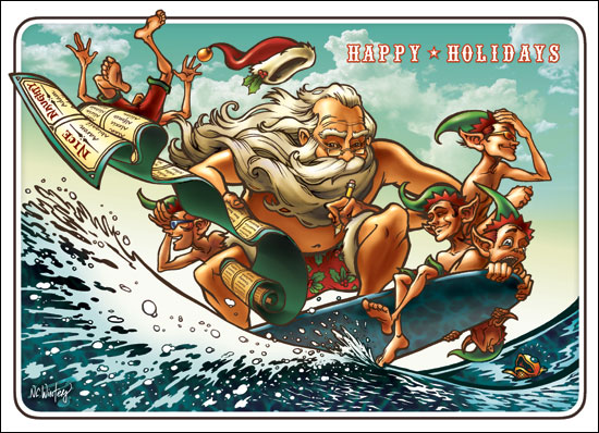 Surf's Up Santa