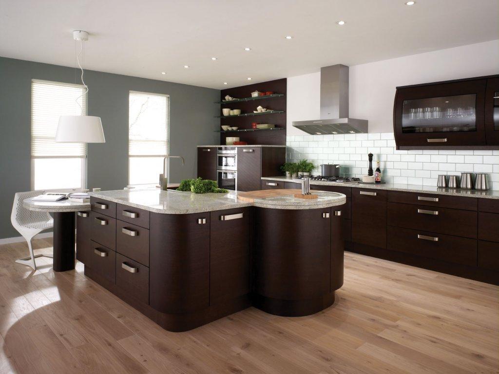 kitchen tile trends hardwood floor in kitchen Image