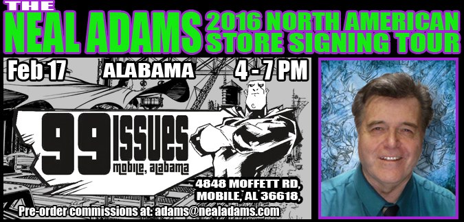 Neal Adams Store Signing - 99 Issues - Mobile Alabama