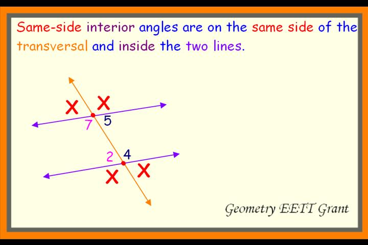 Angle Measurements Utilizing The Relationships Formed By Parallel Lines