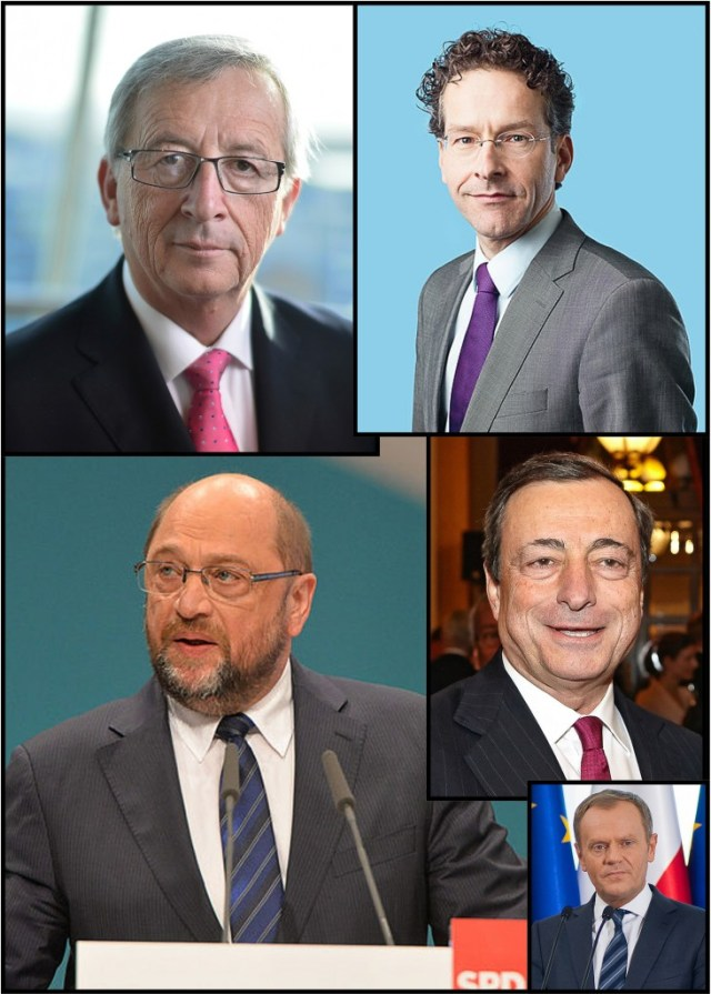 Collage of the members of the Five Presidents council