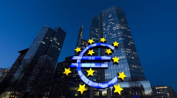 Symbol of European Union in Frankfurt, Germany