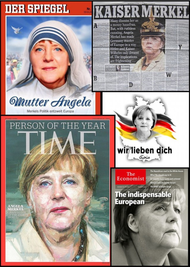 Magazine Covers featuring Angela Merkel