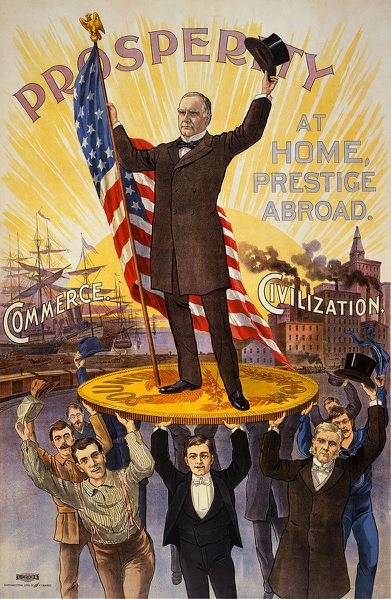 A presidential campaign poster featuring William McKinley