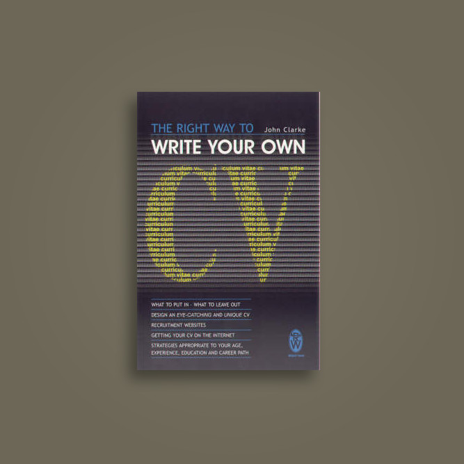 The Right Way To Write Your Own Cv (Right Way S) - undefined Near - write your own cv