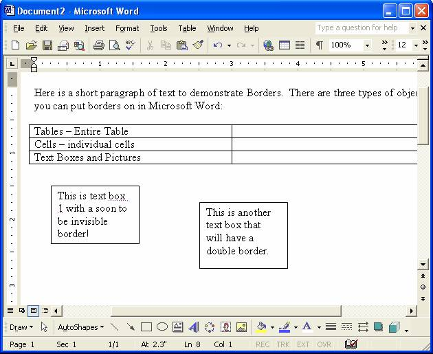 Intermediate Microsoft Word Training Tech 4 - microsoft exercise