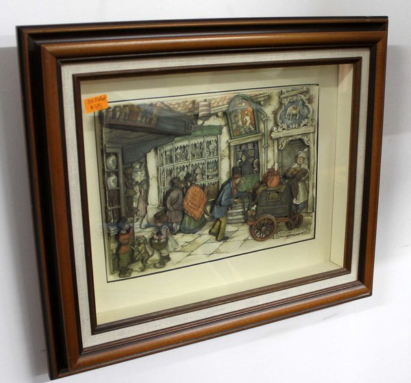 Vintage 3d Shadow Box Art By Anton Pieck The Jolly Pack