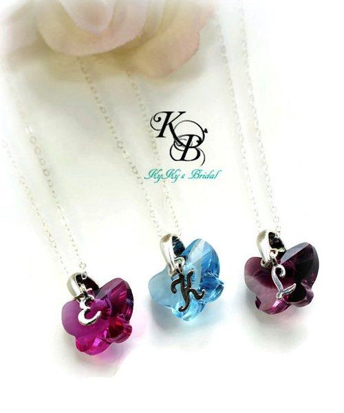 Flower Girl Jewelry Set, Butterfly Jewelry, Butterfly