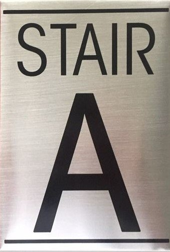 Nyc Dob Floor Number Sign Stair A Sign An Aluminum Sign