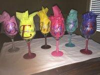 Customized Glitter Wine Glasses | Bling Over Everything ...