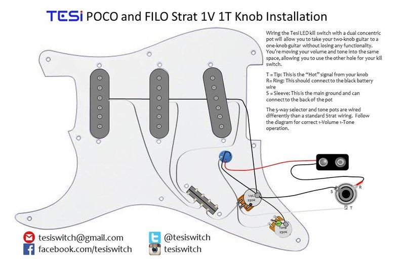guitar wiring diagram kill switch