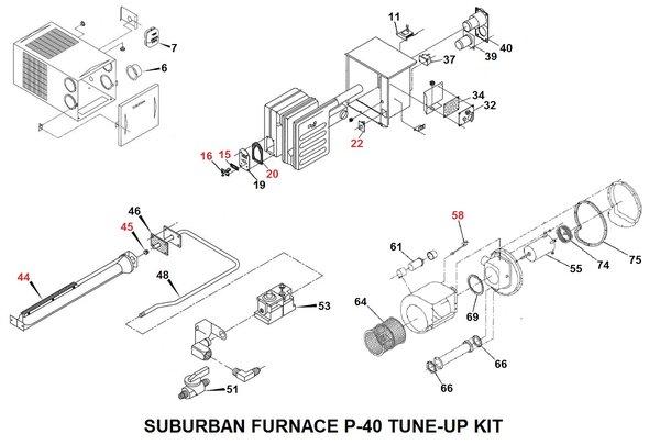 suburban furnace parts diagram