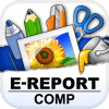 E-REPORT COMP   テキストの縦書き入力もできる高機能なパンフレット作成アプリ
