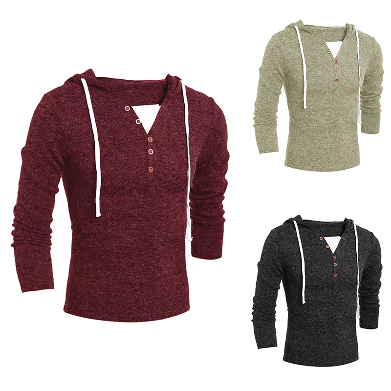 Sweater Hoodie Mens Malaysia Stylish Hoodie Tops Men Casual Sweater Slim Fit V Neck