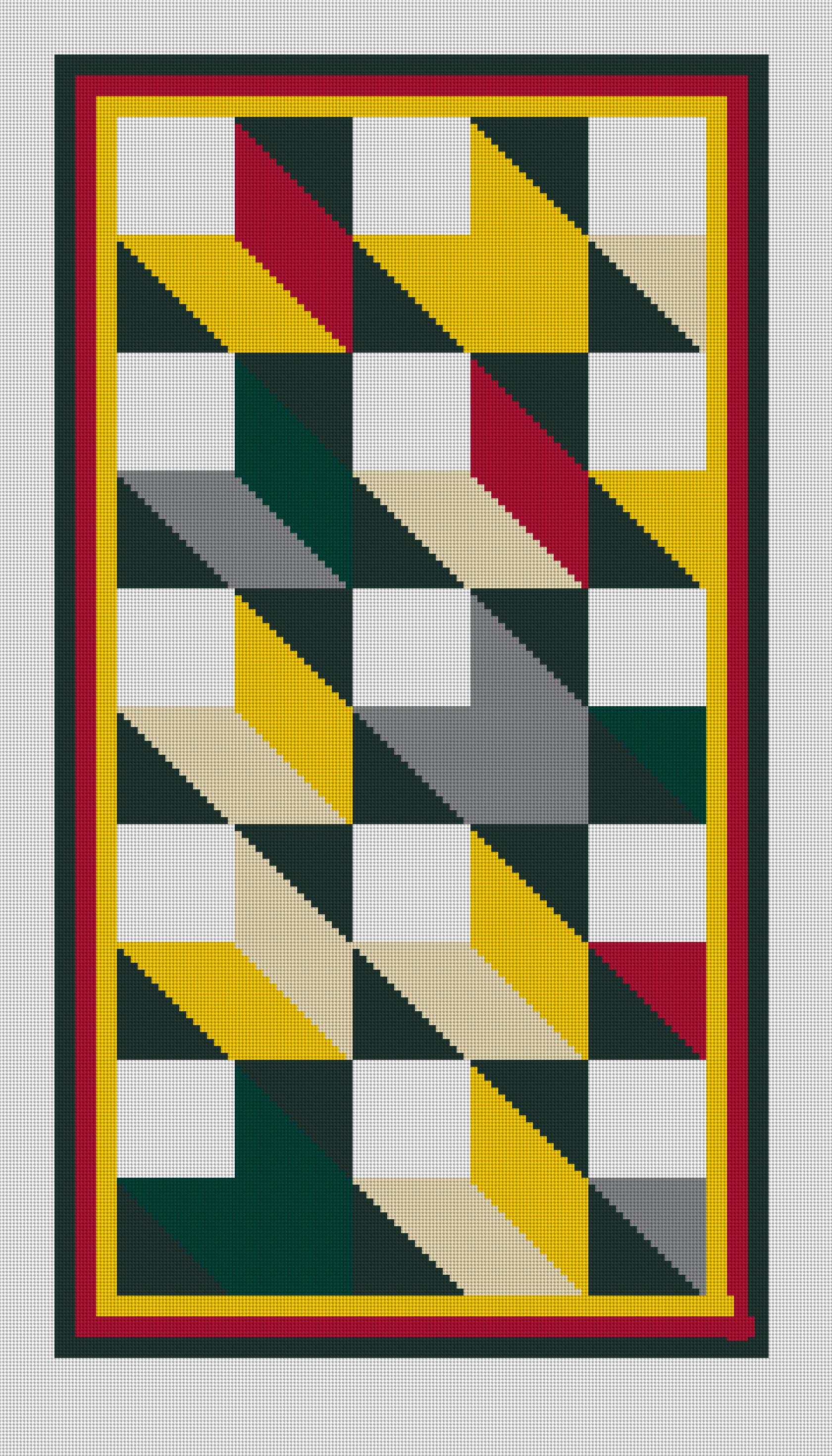 Mosaic Rug Needlepoint Rug | Needlepoint Kits And Canvas Designs