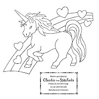 Vintage unicorn pattern from stichado blog