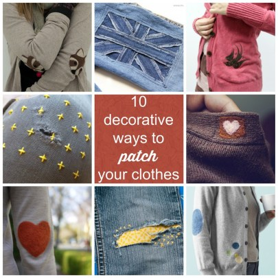 10 decorative ways to patch your clothes