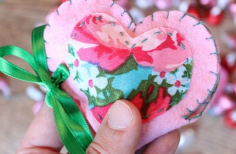 Valentine's Heart Treat Pouch