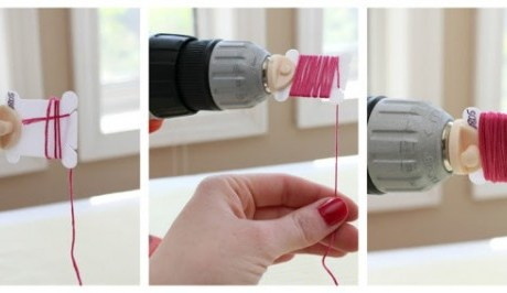 Brilliant Idea! –  Attach a Bobbin Winder To A Drill