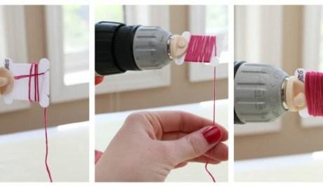 Brilliant Idea! –  Attach a Bobbin Winder To A Drill