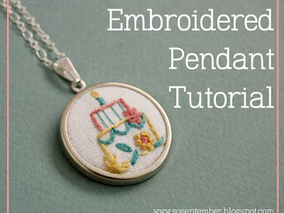 DIY Embroidered Pendant