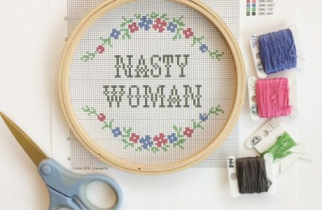 Nasty Woman – Free Cross Stitch