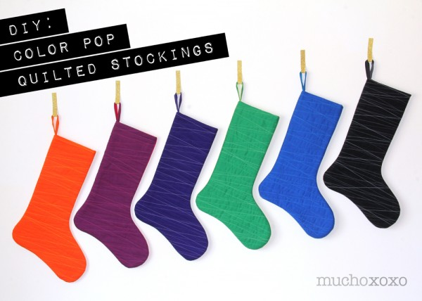 Color Pop Quilted Stockings