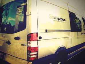 Logo on Stumptown Coffee Roasters van