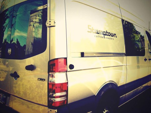 Logo on Stumptown Coffee Roasters van