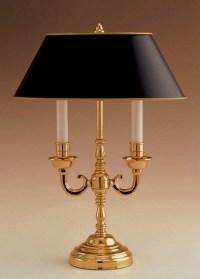 Remington Lamp Table Lamp, Polished brass candelabra