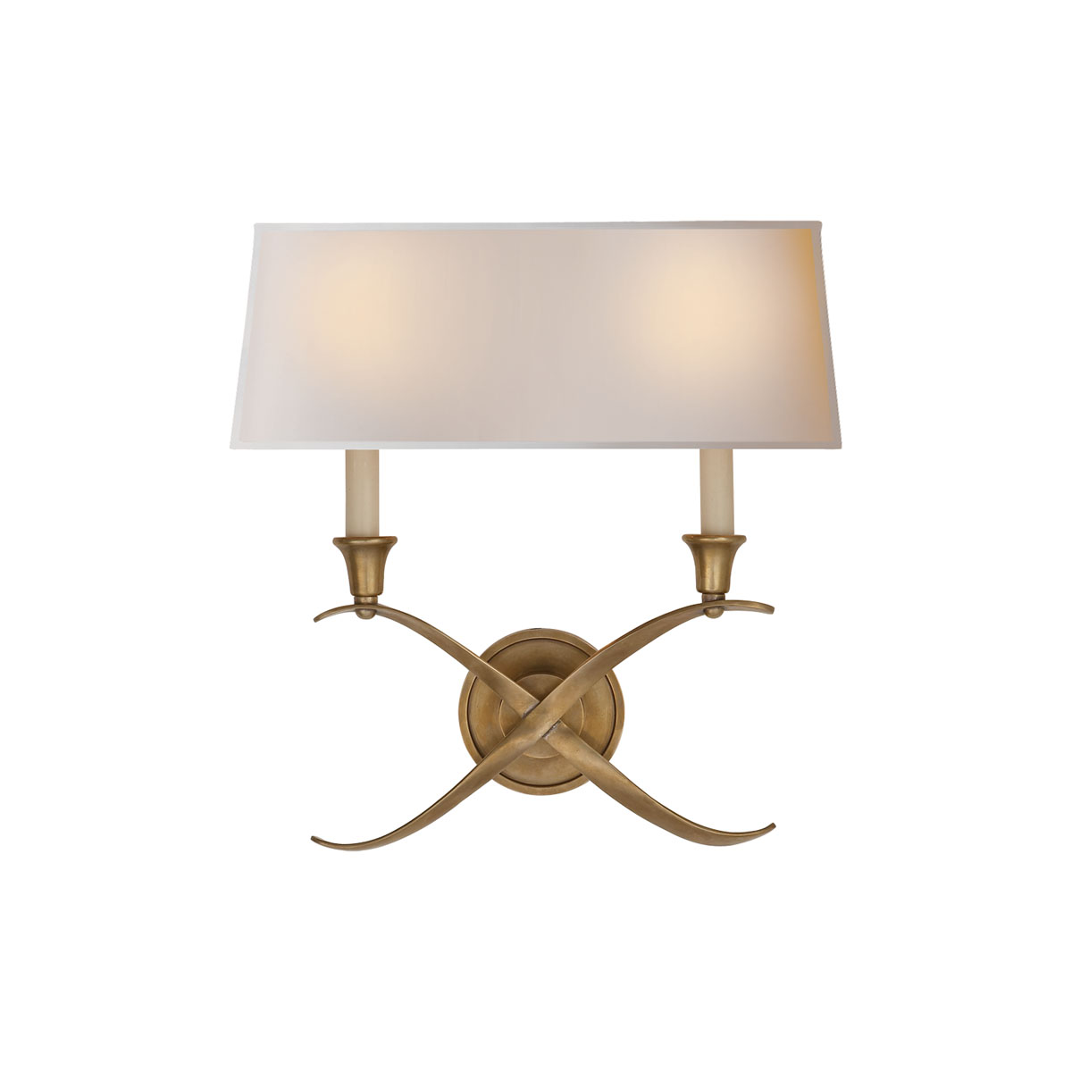 Visual Comfort Cross Bouillotte Sconces, Wall Mounts