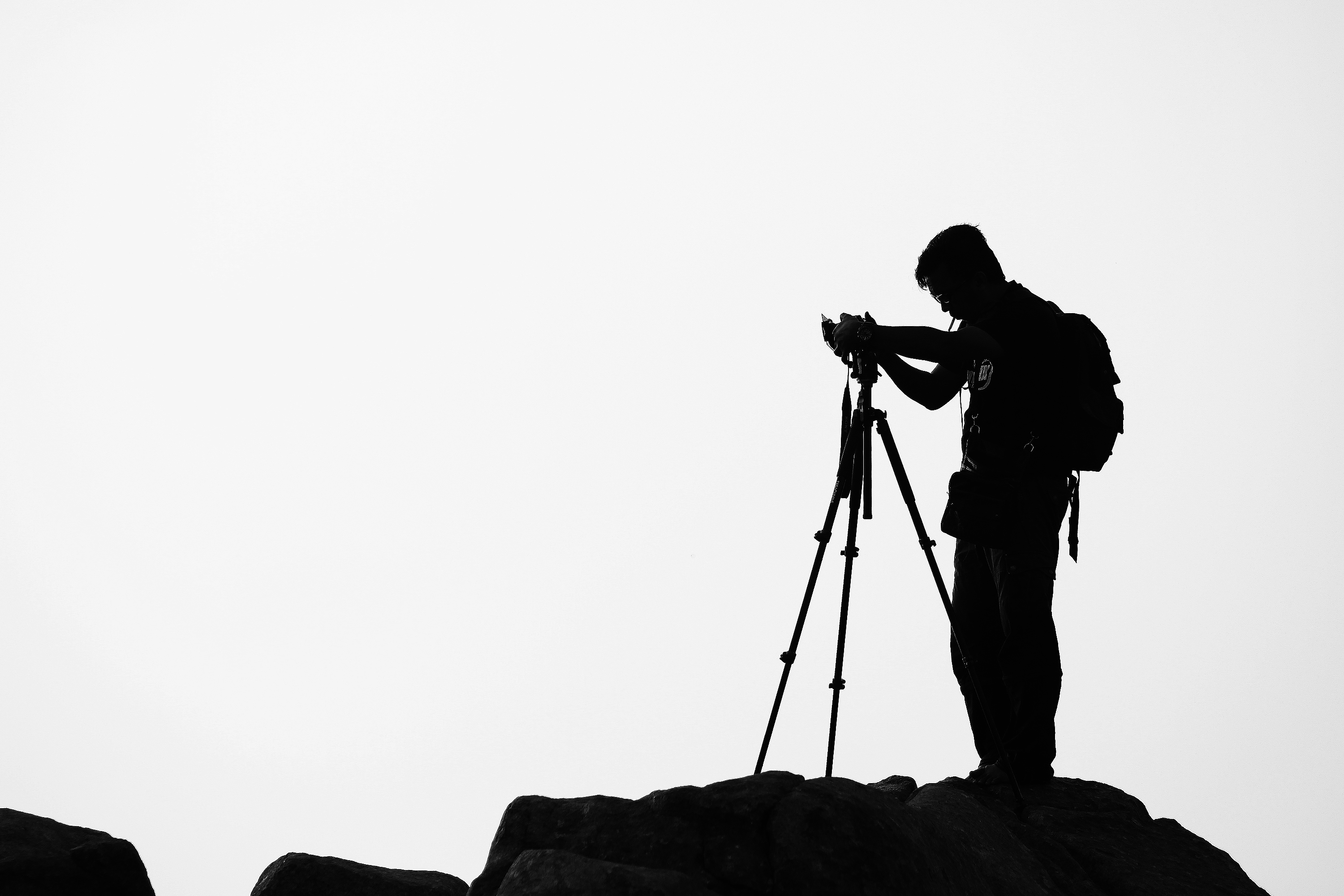 Free Photography Stock Silhouette Photographer Free Stock Photo Negativespace