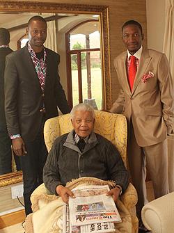 Makandiwa and Angel with Mandela